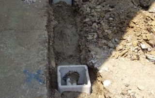Pozzetto per impianto Crepe muri