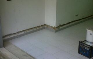 Traccia nelle pareti per impianto contro umidità